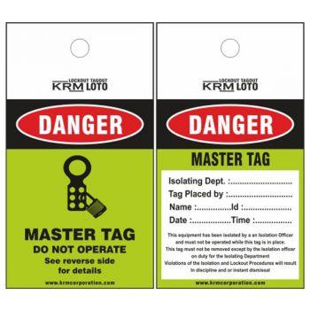 25pcs KRM LOTO - DANGER MASTER TAG