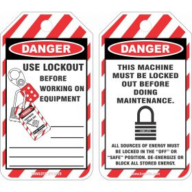 25pcs of Danger - Maintenance Lockout Tags
