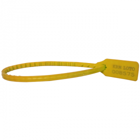 100pcs KRM LOTO – PLASTIC SECURITY SEAL - YELLOW