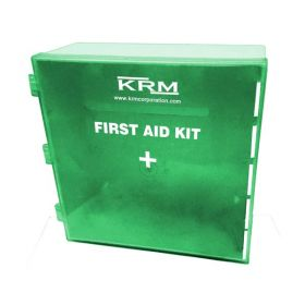 KRM FIRST AID KIT BOX (ABS + POLYCARBONATE) - GREEN