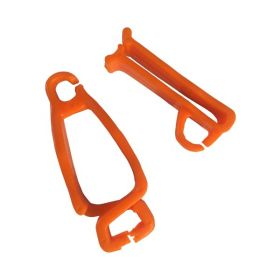 LOCK TAG CLIP LOCKOUT TAGOUT HOLDER - ORANGE