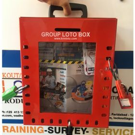 KRM LOTO –24H PORTABLE/ wall mounted  GROUP LOTO  BOX( without material )