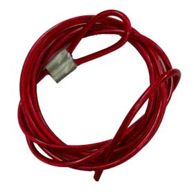 Insulated Metal Cable in SS Finish 4mm Red (Single Loop, 2 meters)