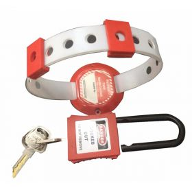 DI ELECTRIC HANDLE PANEL LOCKOUT RED WITH PADLOCK