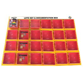 KRM LOTO – 24 BOXES DI-ELECTRIC MULTIPURPOSE (ABS + POLYCARBONATE) LOTO BOX FOR GROUP KEY DOCUMENTATION