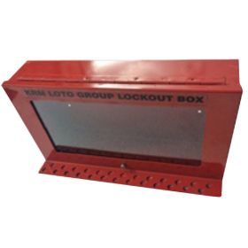 KRM LOTO – PORTABLE/WALL MOUNTED UNIQUE GROUP LOCKOUT BOX (26HOLES)