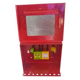 KRM LOTO – PORTABLE/WALL MOUNTED UNIQUE GROUP LOCKOUT BOX (9HOLES) WITHOUT PADLOCK