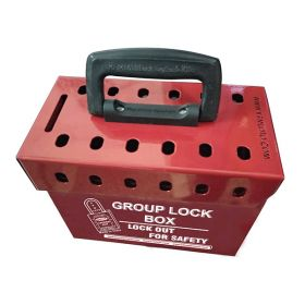 Portable Group Lockout Box (12 Holes)