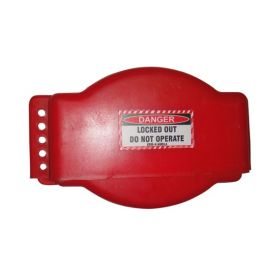 Gate Valve Lockout -  RED - Adjustable type BIG SIZE - 25 MM to 190 mm