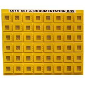 KRM LOTO - 48 BOX WITH 4 LOCKING HOOK LOCKOUT KEY & DOCUMENTATION BOX