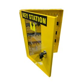 KRM LOTO – LOCKABLE LOCKOUT TAGOUT KEY STATION-3752655 YELLOW (WITHOUT MATERIAL)