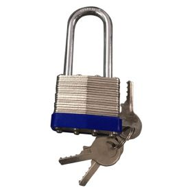 Laminated Padlock with Cap Long shackle