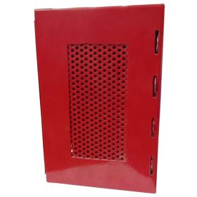KRM LOTO – LOCKOUT PADLOCK STATION-MESH FASCIA-RED-225155-4