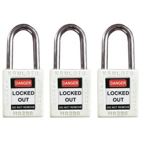 3pcs OSHA Safety Isolation Lockout Padlock - Metal Shackle with Differ Key