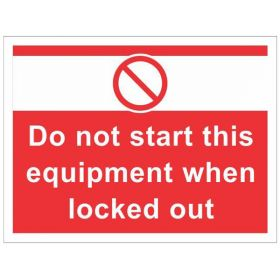 10pcs KRM LOTO LOCKOUT TAGOUT SIGNS - WALL MOUNTED (450 mm x 600 mm)