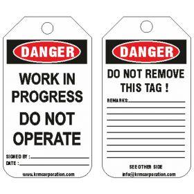 25pcs -KRM LOTO- DANGER - WORK IN PROGRESS
