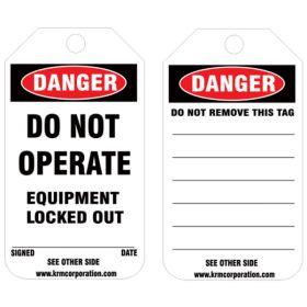 25pcs - KRM LOTO DANGER - DO NOT OPERATE