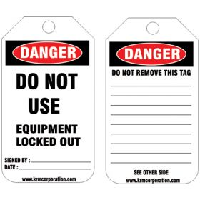 25pcs -KRM LOTO DANGER - DO NOT USE TAG