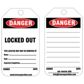 25pcs - KRM LOTO - DANGER - LOCKED OUT TAG