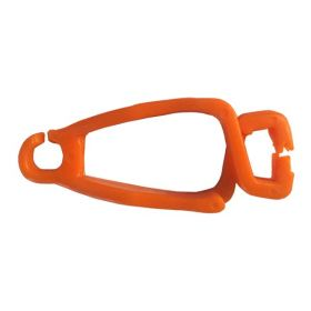 LOCK TAG CLIP LOCKOUT TAGOUT HOLDER - CURVE WITHOUT MATERIAL - ORANGE