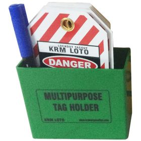 KRM LOTO MULTIPURPOSE TAG HOLDER - Green (With Material)
