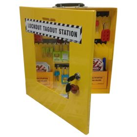 KRM LOTO – OSHA LOCKABLE  LOCKOUT TAGOUTSTATION WITH MATERIAL-10M