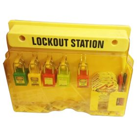 KRM LOTO – OSHA LOCKABLE  LOCKOUT TAGOUT STATION WITH MATERIAL-10P