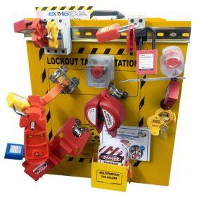 KRM LOTO - OSHA LOCKOUT TAGOUT  DISPLAY TRAINING CABINET KIT -  8027