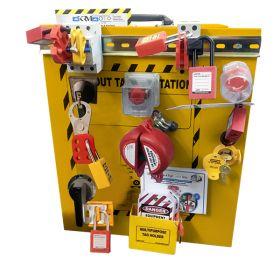 KRM LOTO - OSHA LOCKOUT TAGOUT ELECTRICAL  DISPLAY TRAINING CABINET KIT -8046