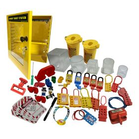 KRM LOTO  -OSHA LOCKOUT TAGOUT ELECTRICAL STATION KIT - 8051