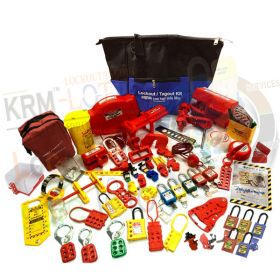 KRM LOTO - OSHA LOCKOUT TAGOUT KIT-10 (ELECTRO-MECH)