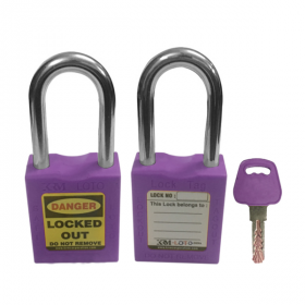 OSHA SAFETY LOCK TAG PADLOCK – METAL SHACKLE-PURPLE
