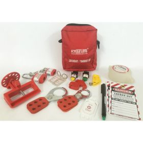 KRM LOTO –  PERSONAL LOCKOUT TAGOUT KIT – RED