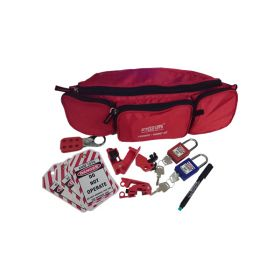 KRM LOTO – PERSONAL LOCKOUT TAGOUT POUCH KIT – RED