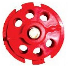 Round Multipurpose Cable Lockout 6 Holes Red (Without Cable)