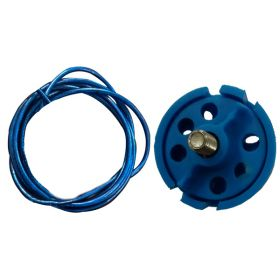 Round Multipurpose Cable Lockout 6H Blue (with 2mtr. cable Without Loop)