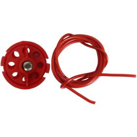 Round Multipurpose Cable Lockout 6H Red (Without Loop)