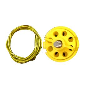 Round Multipurpose Cable Lockout 6H Yellow (with 2mtr. cable Without Loop)