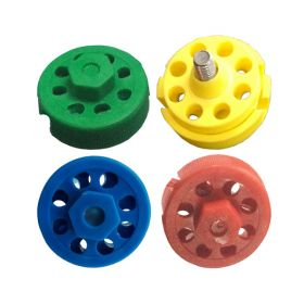 4pcs Round Multipurpose Cable Lockout with 8 Holes in 4 Colors(without cable)