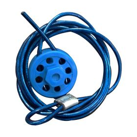 Round Multipurpose Cable Lockout 8H Blue (with 2mtr. cable &With Loop)
