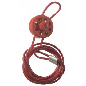 Round Multipurpose Cable Lockout 8H Red (with 2mtr. cable &With Loop)