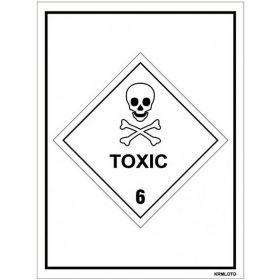 50pcs Self Adhesive Labels - Toxic
