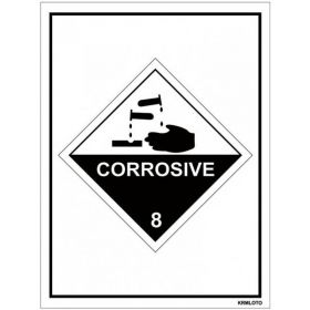 50pcs Self Adhesive Labels - Corrosive