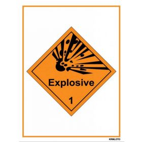 50pcs Self Adhesive Labels - Explosive