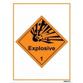 50pcs Self Adhesive Labels - Explosive