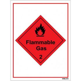 50pcs Self Adhesive Labels - Flammable Gas