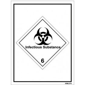 50pcs Self Adhesive Labels - Infectious Substance