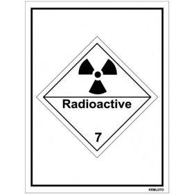 50pcs Self Adhesive Labels - Radioactive