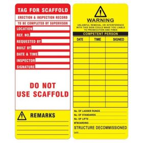 25pcs - KRM LOTO - WARNING DO NOT USE SCAFFOLD TAG