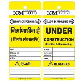 25pcs - KRM LOTO - UNDER CONSTRUCTION  ( ERECTION & DISMANTLKING) SCAFFOLD TAG